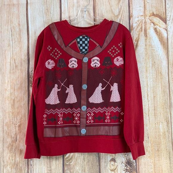 💙Star Wars Christmas Sweatshirt Size M